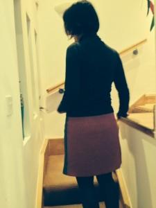 pink tweed back